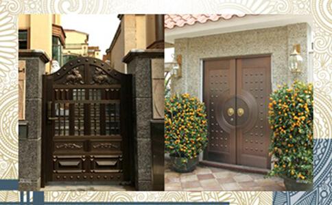 【青岛】别墅社区庭院铜门定制加工案例