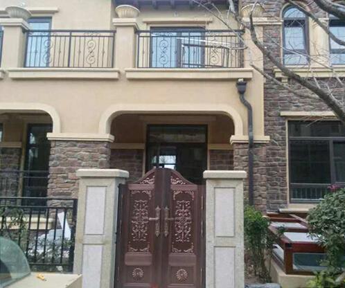 【青岛】建邦听海小区庭院铜门定制安装案例