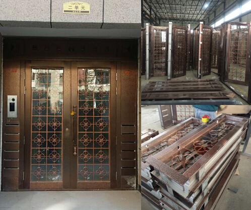 烟台仿铜门定做批发案例—TM-9408 不锈钢仿铜门