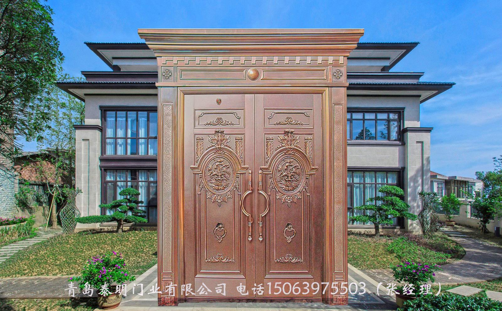 选择纯铜别墅大门要综合各种因素来考虑