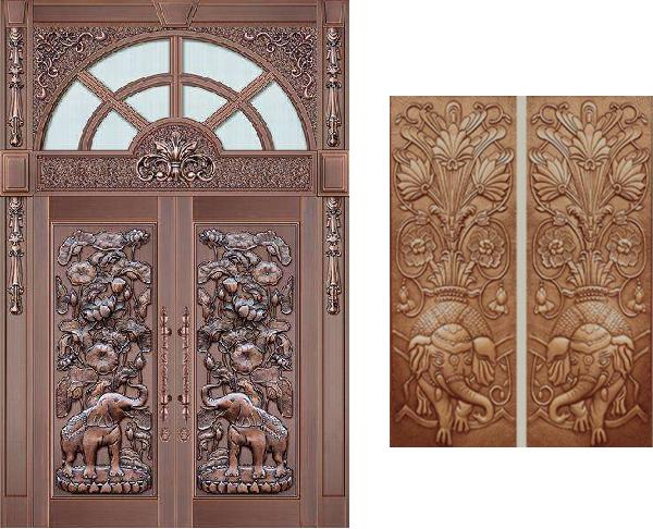别墅铜门上的铜花造型都象征着什么你知道吗?