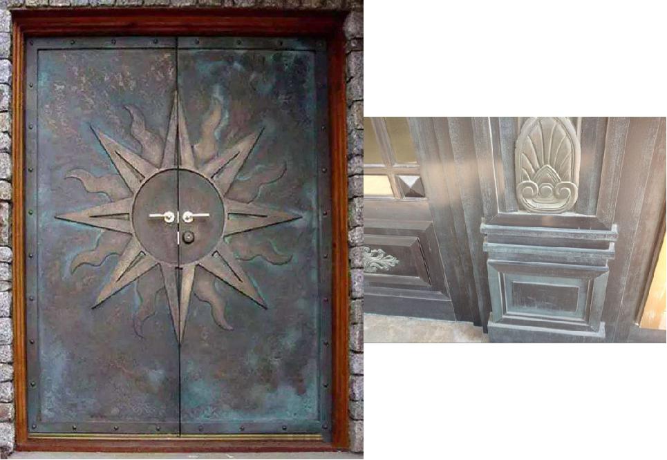 别墅铜门虽好,生锈了也难看!怎样除锈是重点!