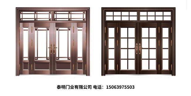 仿铜玻璃门结实耐用又美观!