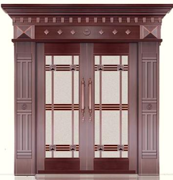 玻璃铜门 BS-1002