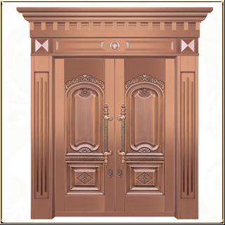 黄铜别墅铜门 TM-6018