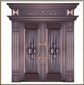 别墅模压铜门 TM-6030