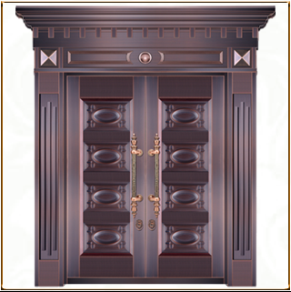 TM-6033 别墅手工拼接铜门