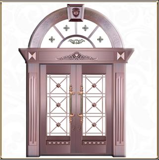 玻璃铜门 TM-6041