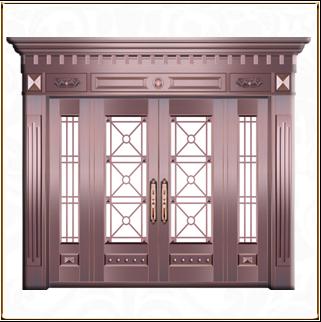四开玻璃铜门TM-6042