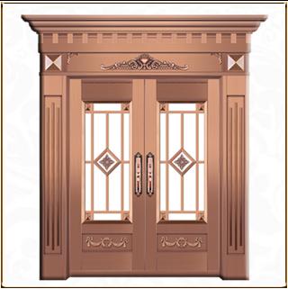 欧式玻璃铜门 TM-6043