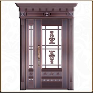 别墅玻璃铜门 TM-6047