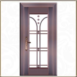 进户玻璃铜门 TM-6048
