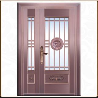 新款玻璃铜门 TM-6049