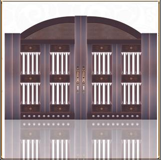中式庭院铜门 TM-6052