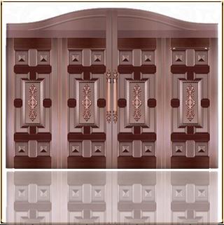 全封闭庭院铜门 TM-6058