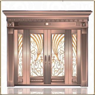 售楼处玻璃铜门 TM-6075