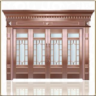 酒店玻璃铜门 BL-1006
