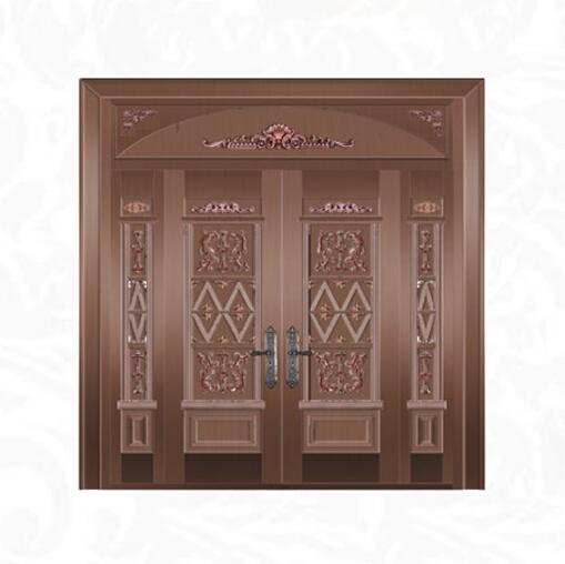 别墅模压四开铜门TM-6054