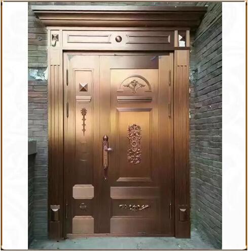 子母铜门TM-6056