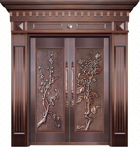 中国风别墅铜门
