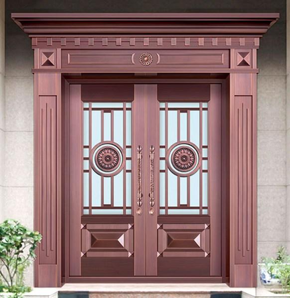 门头可视窗别墅铜门TM-6043