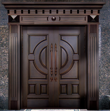 青岛别墅庭院铜门制作|别墅铜门定做|青岛铜门厂家-泰明门业