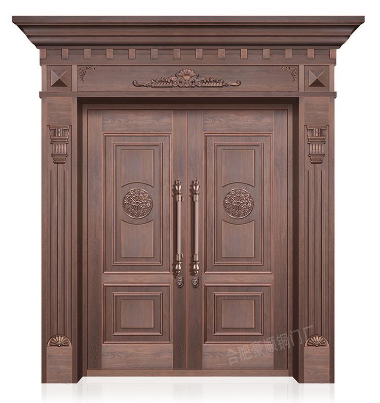 中式带门头铜门TM-6022